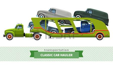 166 Car Hauler Stock Illustrations, Cliparts And Royalty Free Car.