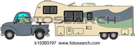 Stock Illustration of Toyhauler trailer k15393197.