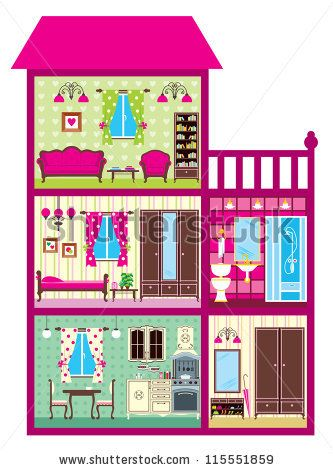 doll house cut out.