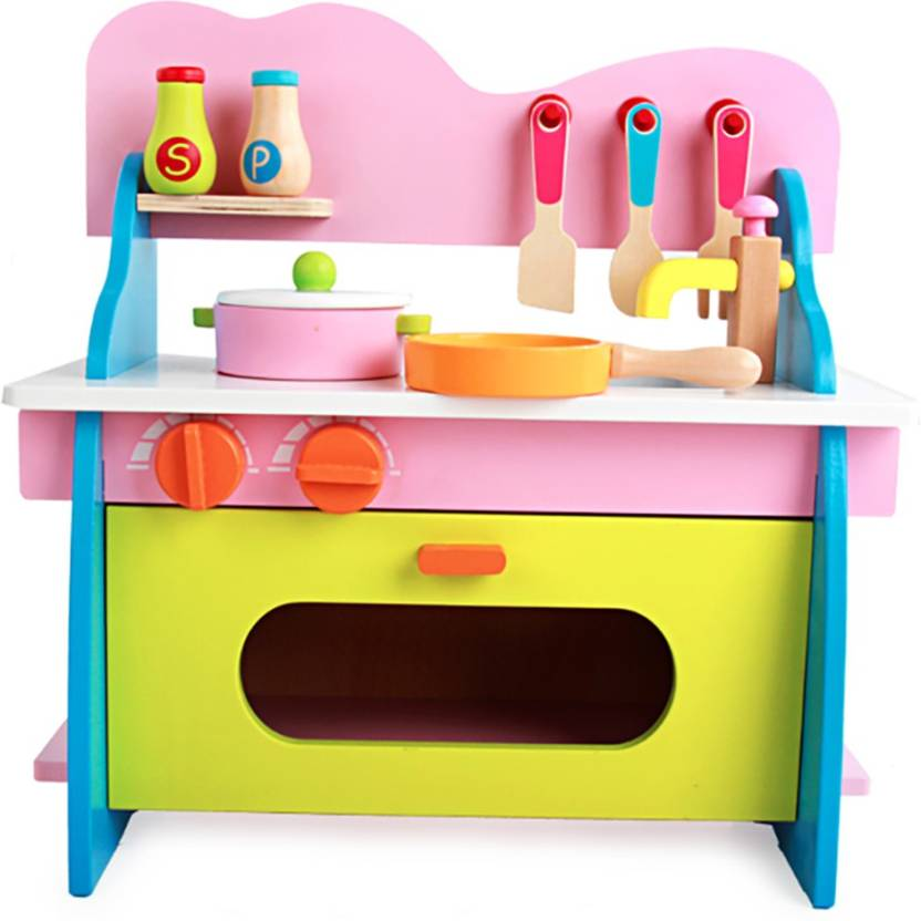 Jack Royal High Grade Wooden Color Kitchen Set.