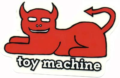 Toy Machine Skateboard Stickers and Skateboarding Accessories FREE.