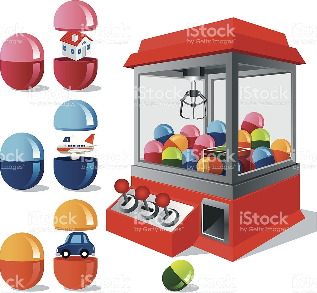 Toy Claw Machine stock vector art 165900681.