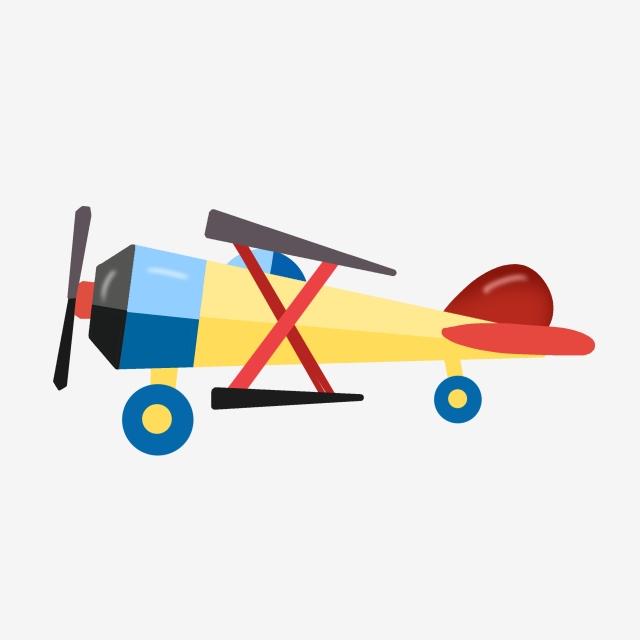 Hand Drawn Airplane Toy Plane Illustration Kids Toys.