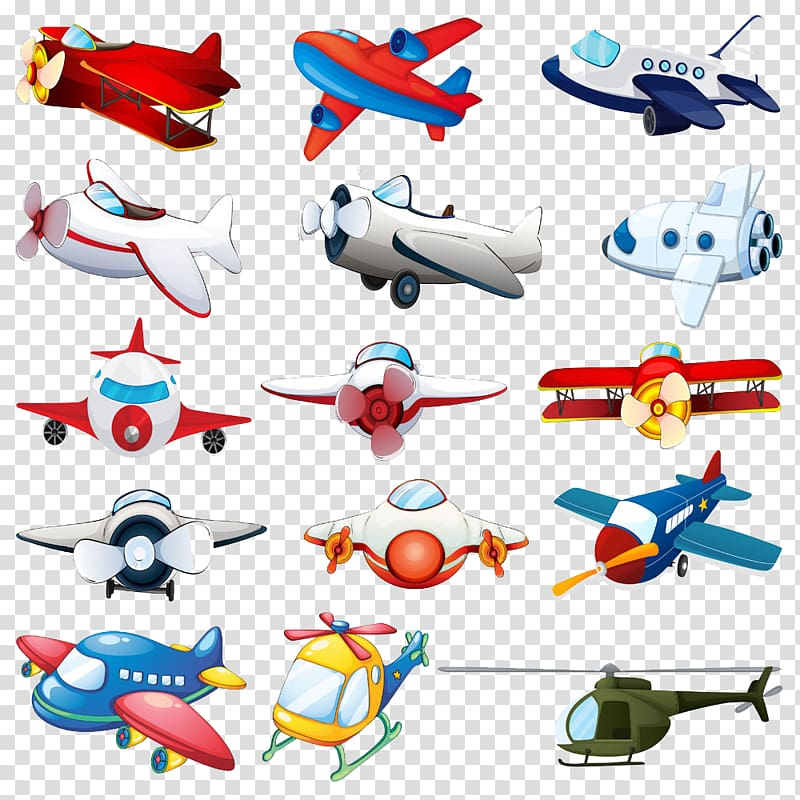 Assorted aircraft cartoon , Airplane Fixed.