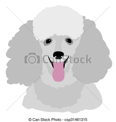 Vector Clip Art of Toy Poodle.