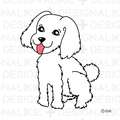 Toy Poodle Dog Clipart.