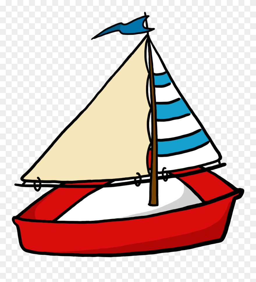 Toy Sailboat Clipart.
