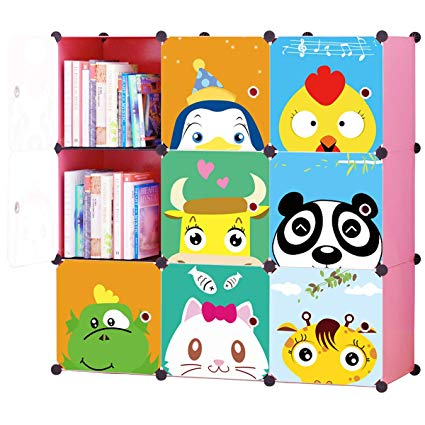 KOUSI Toy Organizer Toy Storage Portable Toy Organizers for Kids Children  Toy Organizers and Storage Multifuncation Cube Storage Shelf Cabinet.