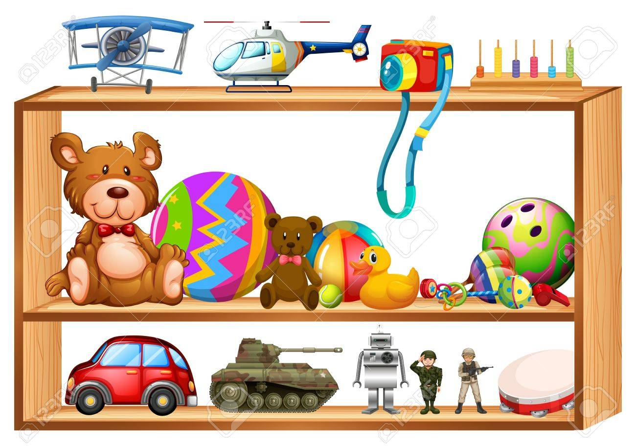 Toy Shelf Clipart.