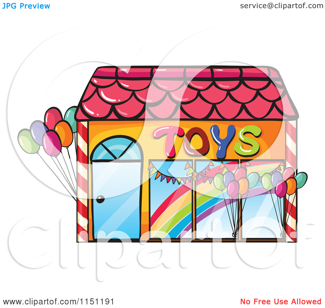 Clipart of a Toy Shop.