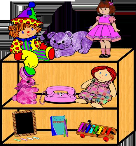 Clip Art Of Toys On Shelves Clipart.