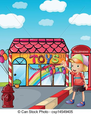 Vector of A toy shop.
