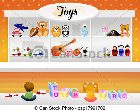 Stock Illustration of Toy store.