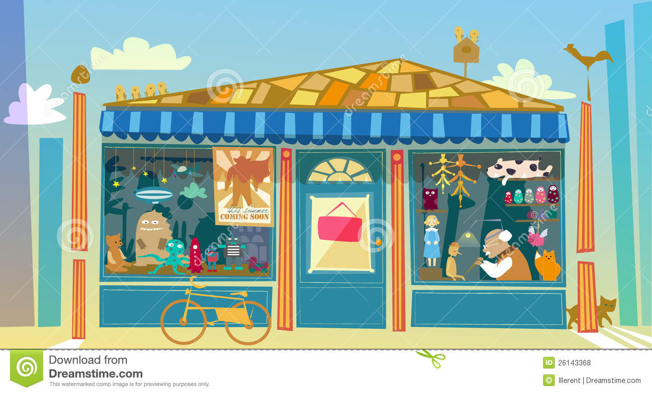 Toyshop Stock Illustrations.