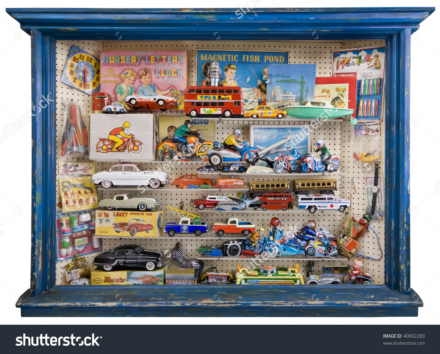 Toy Shop Window Full Tin Plate Stock Photo 40602283.