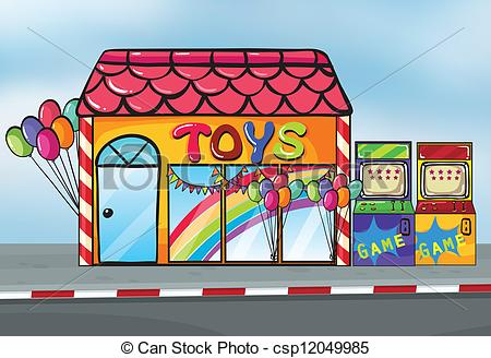 Vector Illustration of Toy Shop.