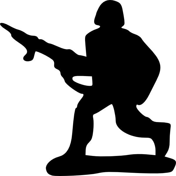 Toy Soldier clip art Free vector in Open office drawing svg.