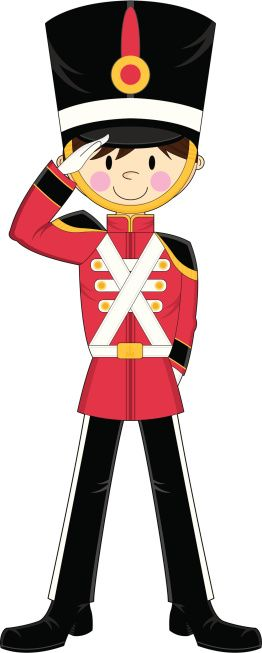 Vector Illustration of an Adorably Cute Nutcracker style toy.