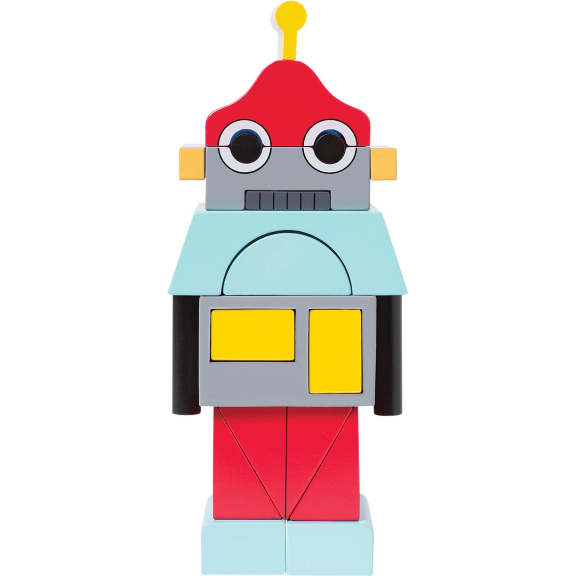 Manhattan Toy Beep The Robot Magnetic Wooden Stacking Block.