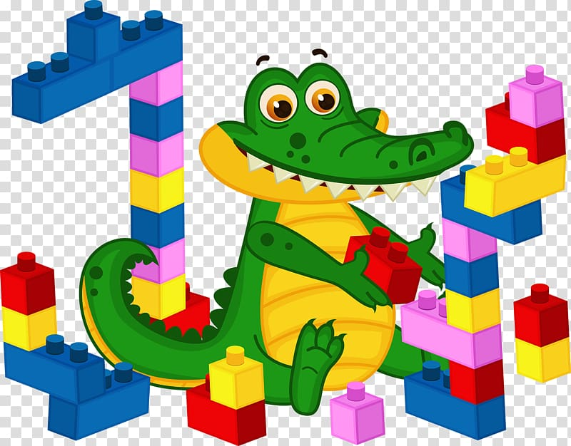 Child Coloring book, Crocodile stacked wood transparent.
