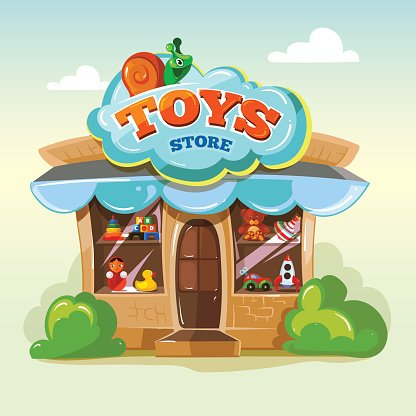 Facade of Toy Vector Illustration Isolate ON Light.