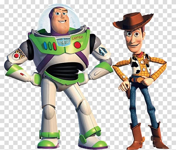 Sheriff Woody and Buzz Lightyear illustrations, Toy Story 2.