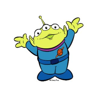 Toy story aliens clipart.