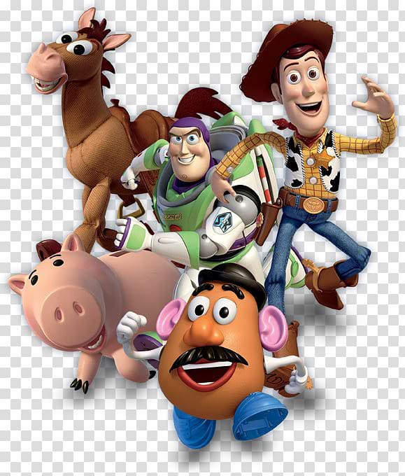 Five Disney Pixar Toy Story characters illustration, Sheriff.