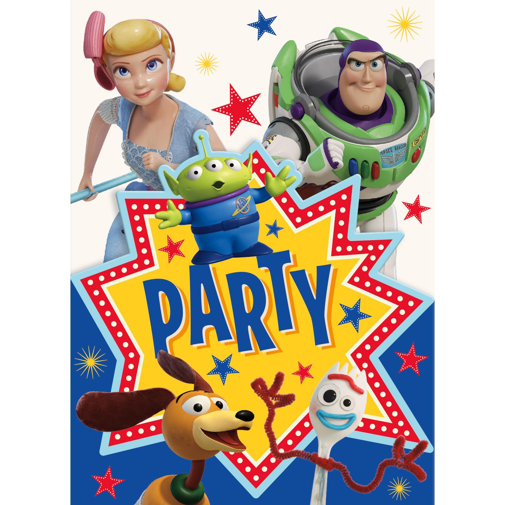 Toy Story 4 Invitations.