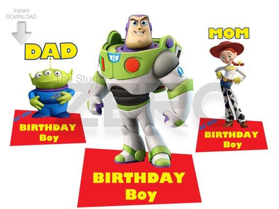 Toy Story Clipart, Birthday Boy, Mom & Dad Clipart, Digital.
