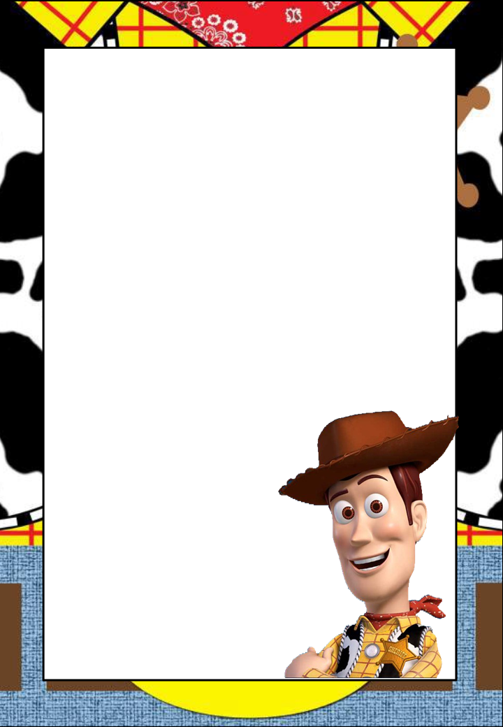 Toy Story: Free Printable Frames, Invitations or Cards..