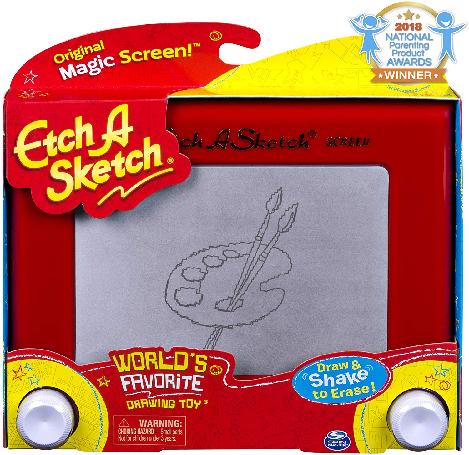 Etch A Sketch, Classic Red Drawing Toy with Magic Screen, for Ages 3 and Up.
