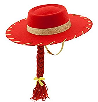 Toy Story 3 Jessie the Cowgirl Red Sparkle Cowboy Hat with.