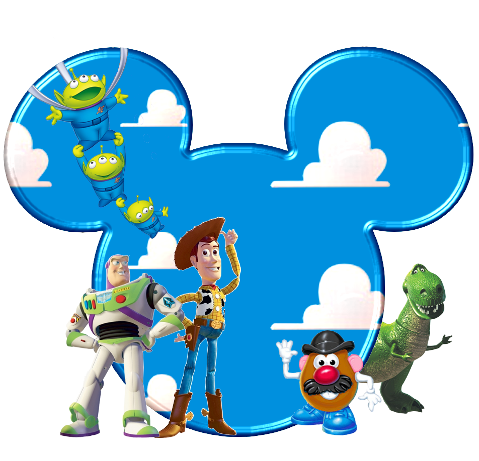 Toy Story in Mickey Heads..