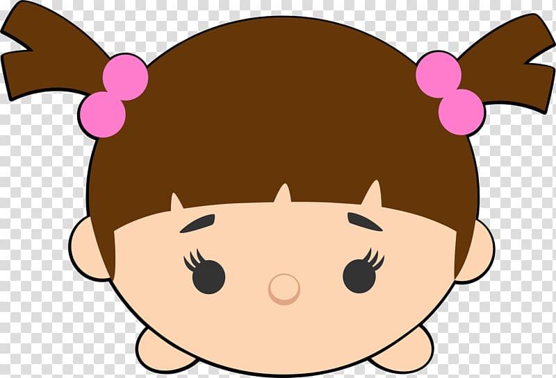 Brown haired female character illustration, Disney Tsum Tsum.