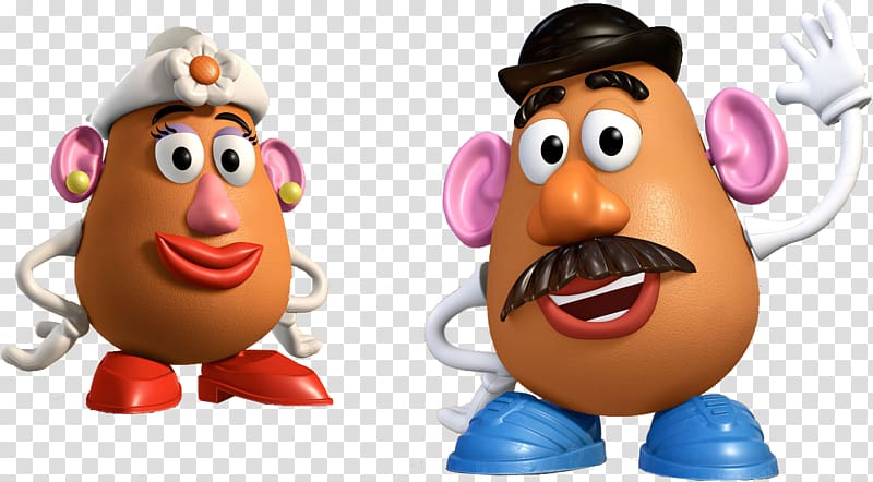 Two Mr. and Mrs. Potatoes , Mr. Potato Head Toy Story Mrs.