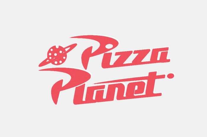 Pizza Planet from Toy Story logo in 2019.