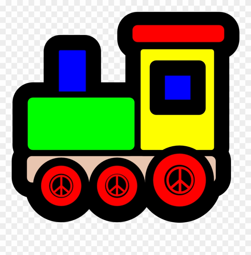 Toy Train Icon Christmas Xmas Electronics Peace Symbol.