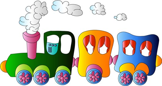 Toy train clip art.