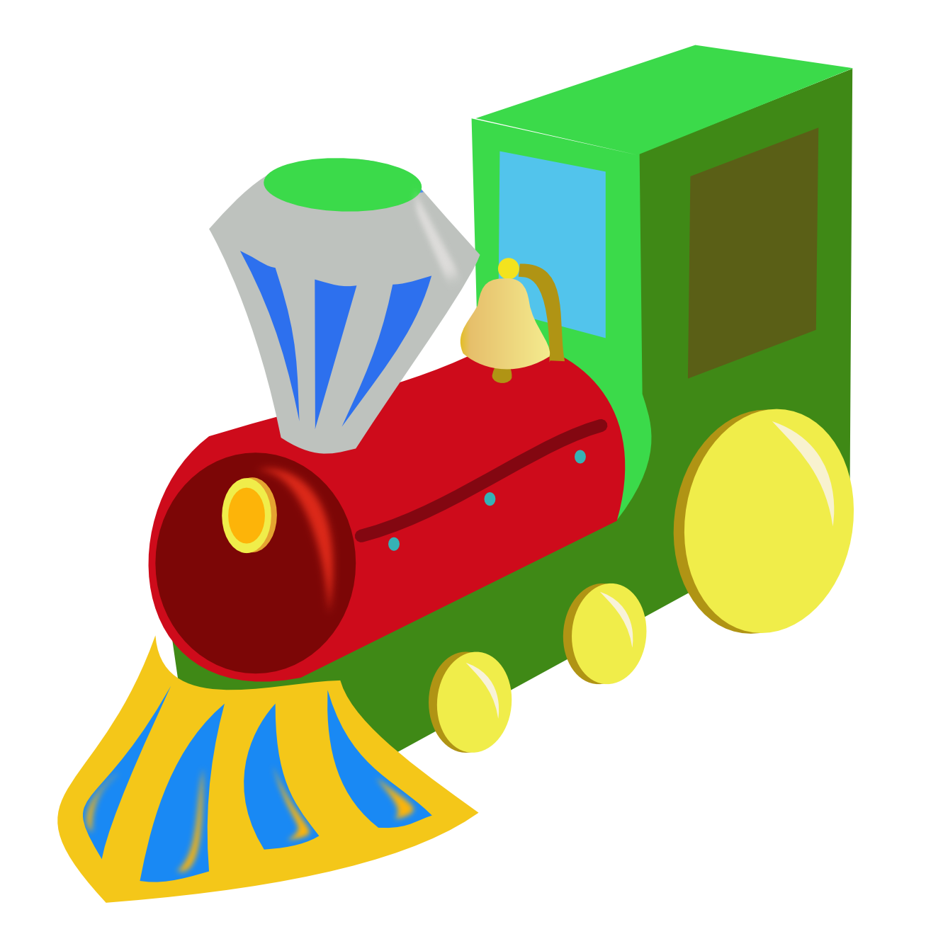 Clipart toy train.