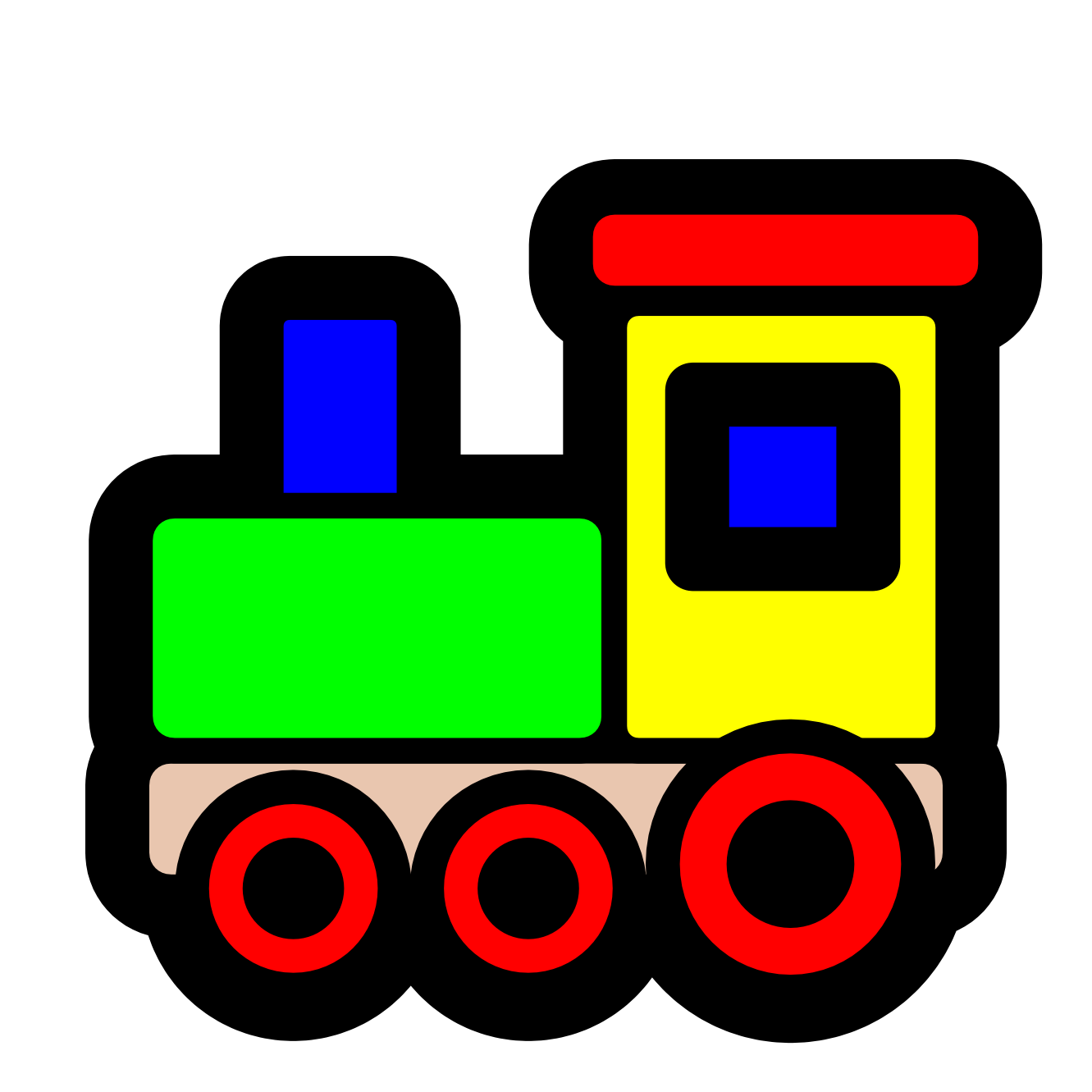 Toy Trains Clipart.