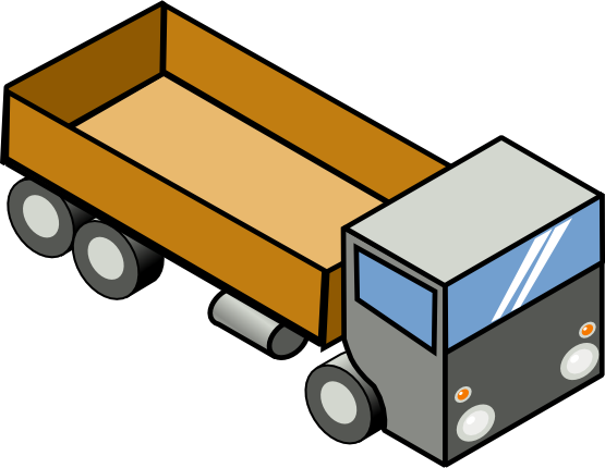 Free Toy Truck Clipart Image.