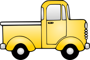 Toy truck and car clipart.