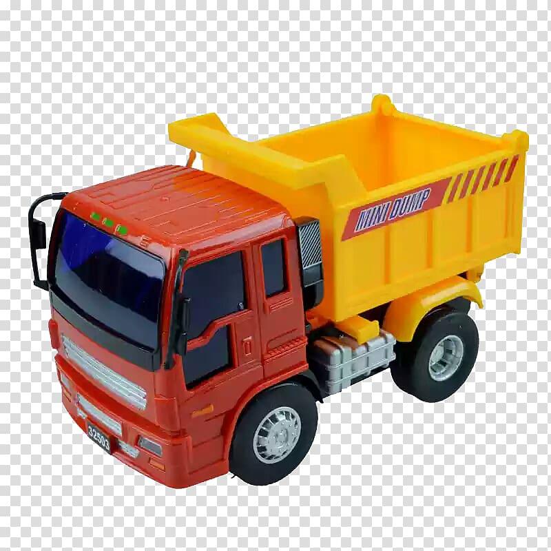 Car Dump truck Pickup truck Toy, Dump truck side model.