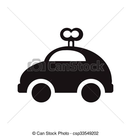 Vector Clipart of car toy with wind up csp33549202.