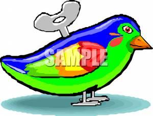 Wind Up Bird Toy.