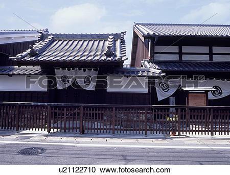 Stock Photography of Futagawa Shuku Honjin, Toyohashi, Aichi.