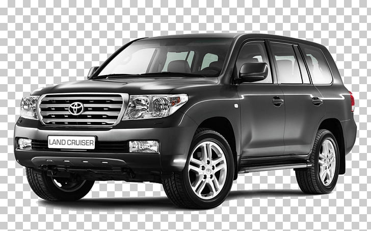 Landcruiser Toyota, black Toyota SUV PNG clipart.