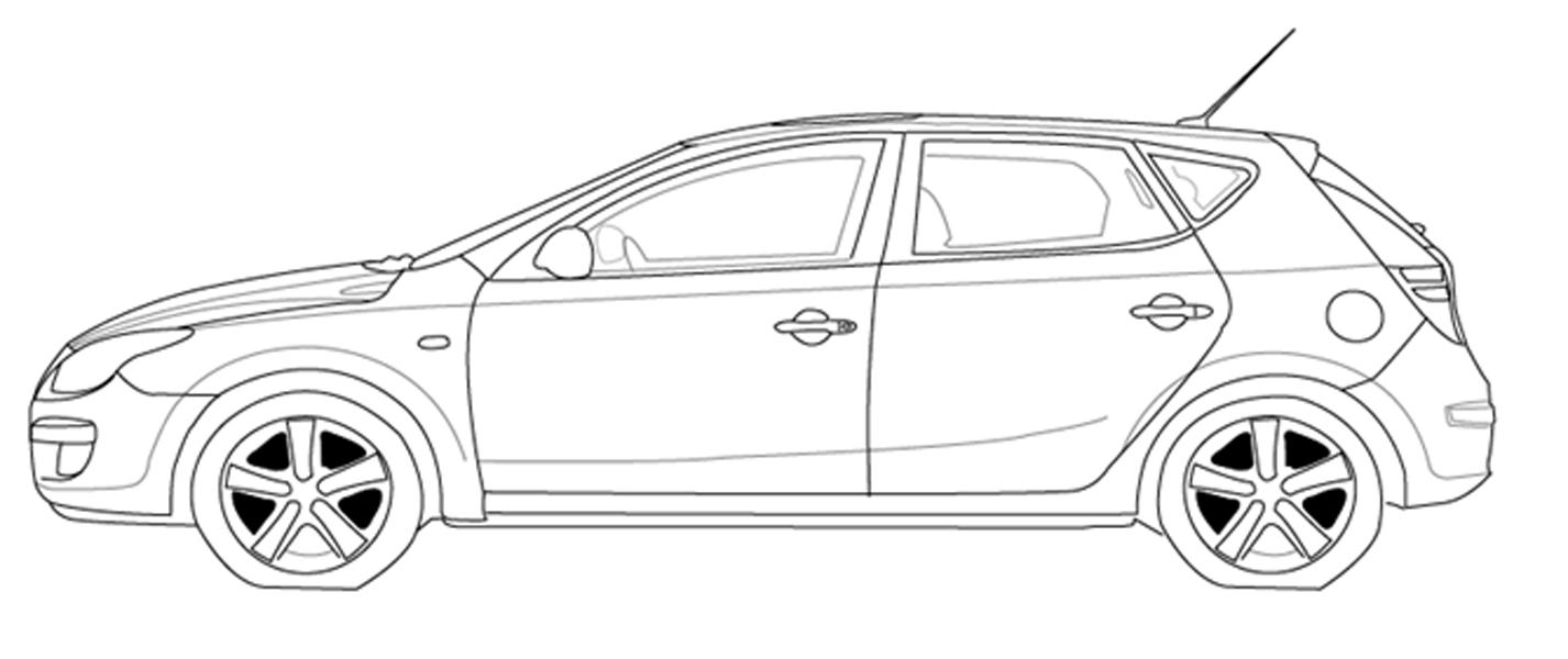 Toyota prius clipart.