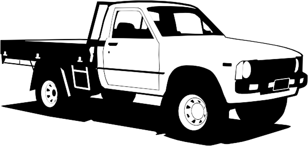 Toyota Hilux clip art Free Vector / 4Vector.